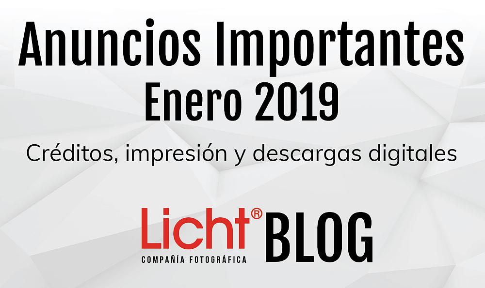 Anuncios Importantes: Enero 2019,